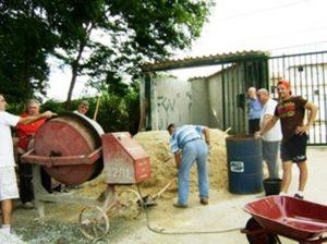 2008 - Costruzione della cinta muraria del seminario di Contagem (Brasile)